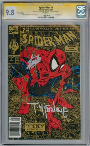 Spider-man #1 UPC Gold Foil CGC 9.8 Signature Series SS Signed Stan Lee Todd McFarlane Marvel